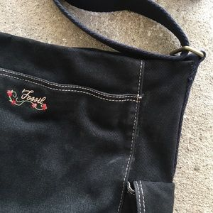 Fossil Bags - Fossil | Black Embroidered Crossbody